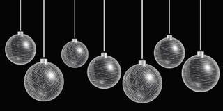 Het zilver van de Kerstmisdecoratie Stock Foto