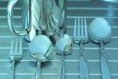 Het zilver van de keuken Royalty-vrije Stock Afbeeldingen