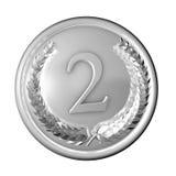 Het Zilver van de medaille Stock Fotografie