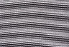 het zilver van de textuurstof met vierkante cellen Stock Foto's