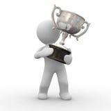 Het zilver van de trofee Royalty-vrije Stock Foto