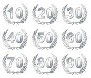 Het Zilver van de verjaardag royalty-vrije illustratie