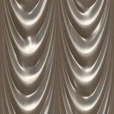 Het zilver van het gordijn Vector Illustratie