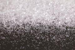 Het Zilver van het Kerstmissneeuwwitje schittert achtergrond Vakantie abstracte textuur Stock Afbeelding