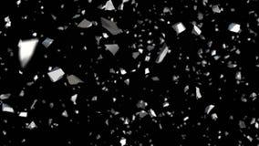 Het zilver verbrijzelt illustratie vector illustratie