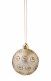 Het zilveren knipsel van de Kerstmisbal Stock Foto