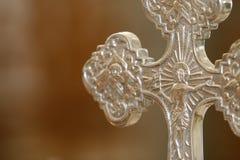 Het zilveren kruis van het detail Royalty-vrije Stock Fotografie