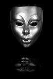 Het zilveren Masker van het Gezicht Stock Foto's