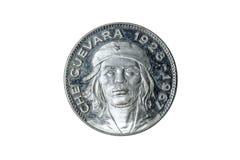 Het zilveren muntstuk van Che Guevara Stock Afbeeldingen