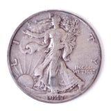 Het Zilveren Muntstuk van Verenigde Staten Stock Foto