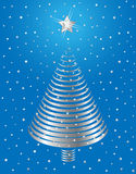 Het zilveren ontwerp van de Kerstboom. royalty-vrije illustratie
