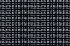 het zilveren patroon van 2014 Stock Foto's
