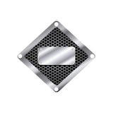 het zilveren pictogram van hulpmiddelen lege waarschuwingen royalty-vrije illustratie