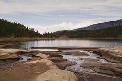 Het zilveren Reservoir van de Hefboom Stock Foto