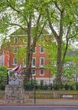 Het zilveren teken van de Draakgrens in Stad van Londen in Engeland Royalty-vrije Stock Foto