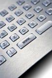 Het zilveren toetsenbord van PC Royalty-vrije Stock Foto's