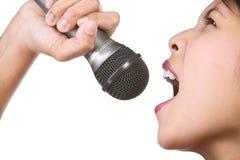 Het zingen royalty-vrije stock fotografie