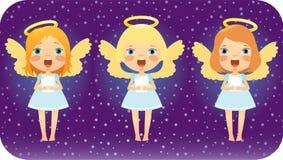 Het zingen de engelen van Kerstmis vector illustratie