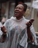 Het zingen in de regen Royalty-vrije Stock Foto