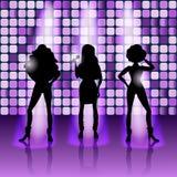 Het zingen de stijl van de meisjesdisco Stock Afbeelding