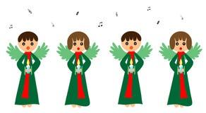 Het zingen engelen Stock Afbeeldingen