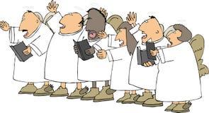 Het zingen engelen royalty-vrije illustratie