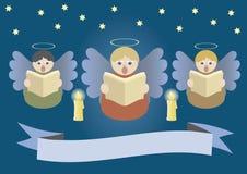 Het zingen engelen Royalty-vrije Stock Foto's