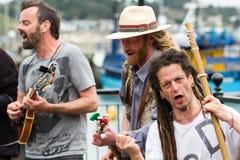 Het zingen het Protesteren Buskers royalty-vrije stock fotografie