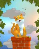 Het zingen Kat stock illustratie