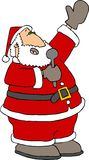 Het zingen Kerstman stock illustratie