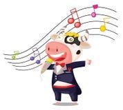 Het zingen koe Royalty-vrije Stock Afbeeldingen