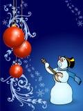 Het zingen op Kerstmisnacht Stock Foto