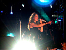 Het Zingen van Carey van Mariah royalty-vrije stock afbeeldingen