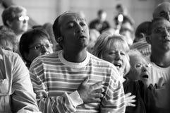 Het zingen van de Hymne Stock Foto's