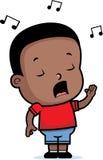 Het Zingen van de jongen Stock Afbeelding