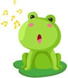 Het zingen van de kikker Stock Foto's