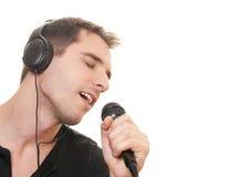 Het zingen van de mens Royalty-vrije Stock Foto