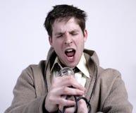 Het zingen van de mens Stock Fotografie