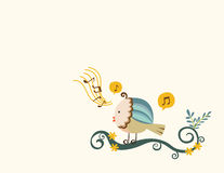 Het zingen van de vogel Royalty-vrije Stock Afbeelding