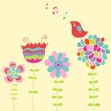 Het zingen van de vogel Royalty-vrije Stock Foto's