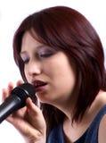 Het zingen van de vrouw Royalty-vrije Stock Foto's