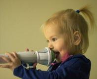 Het zingen van een lied Stock Foto's