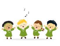 Het zingen van het koor lof Stock Afbeeldingen