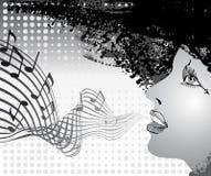 Het zingen van het meisje Stock Illustratie