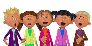 Het zingen van kinderen Stock Fotografie