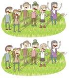 Het zingen Verschillen Visueel Spel Royalty-vrije Stock Afbeeldingen