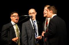 Het Zingende Kwartet van mensen Stock Foto