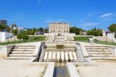 Het Zisa-Kasteel in Palermo, Sicilië Italië Royalty-vrije Stock Foto's