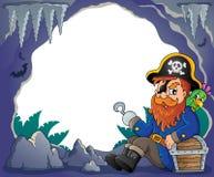 Het zitten beeld 4 van het piraatthema Royalty-vrije Stock Afbeelding