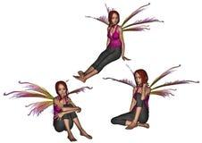 Het zitten en het dromen faeryreeks vector illustratie